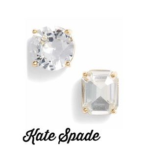 NWT Kate Spade Mismatched Round & Square Earrings